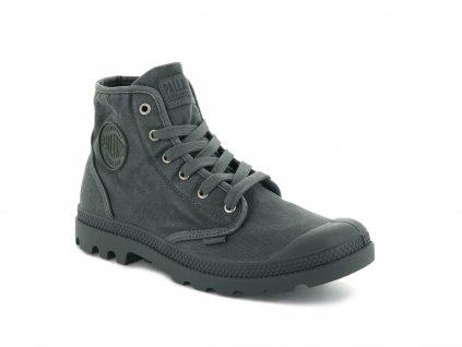 Palladium módne topánky PAMPA HI METAL BLACK
