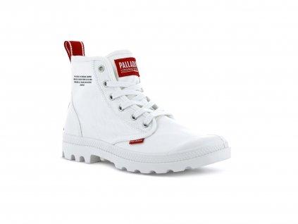 Palladium módne topánky PAMPA HI DARE STAR WHITE
