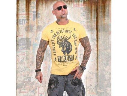 Yakuza GOOD COCK tričko pánske TSB 14043 pale marigold
