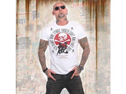 Yakuza NIPPON SKULL tričko pánske TSB 14044 white
