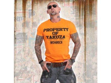 Yakuza PROPERTY tričko pánske TSB 14069 orange popsicle