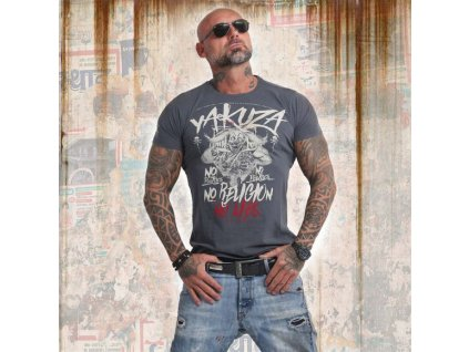 Yakuza NO NO NO tričko pánske TSB 14045 dark slate