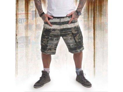 Yakuza cargo šortky DEATH CORE CSB 14038 camouflage