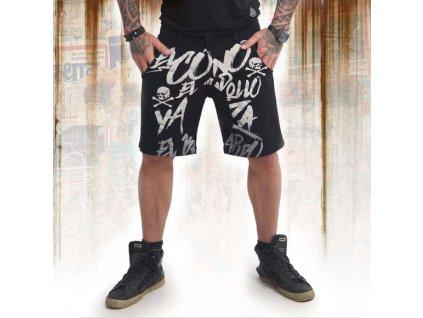 Yakuza cargo šortky EL BASTARDO CSB 14039 black
