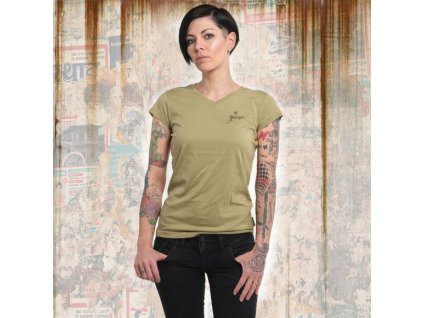 Yakuza BASIC LINE V NECK dámske tričko GSB 14166 boa