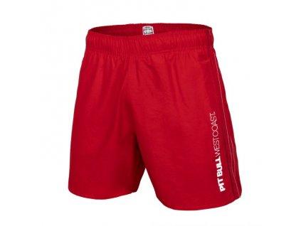 Pitbull West Coast plavkové šortky BARK Red pánske