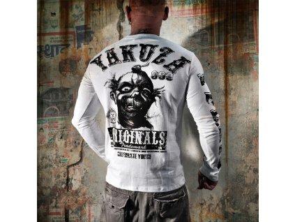 Yakuza tričko pánske s dlhým rukávom LSB 623 white