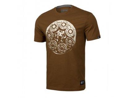PitBull West Coast TRAY EIGHT19 brown tričko pánske