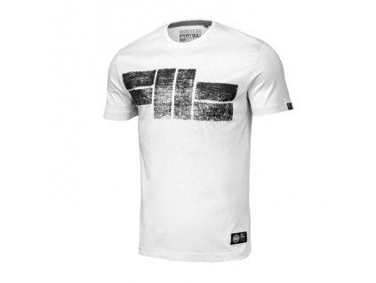PitBull West Coast CLASSIC LOGO 19 white tričko pánske