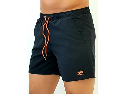 Alpha Industries plavkové šortky BASIC SWIM SHORT black