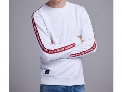Alpha Industries RBF Tape Sweater White mikina pánska