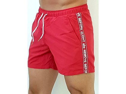 Alpha Industries plavkové šortky RBF Tape Swim Short speed red
