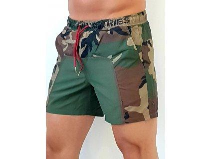 Alpha Industries plavkové šortky Camo Swim Short woodl camo