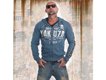Yakuza BAD SIDE mikina na zips HZB 14010 mallard blue