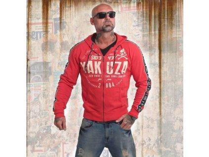Yakuza BAD SIDE mikina na zips HZB 14010 ribbon red