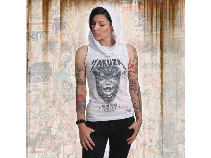 Yakuza NO ME JODAS dámske tielko s kapucňou GSB 14156 white