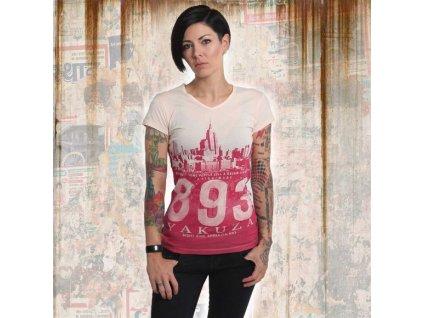 Yakuza SKYLINE V NECK dámske tričko GSB 14148 afterglow