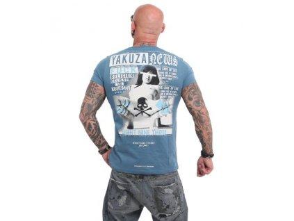 Yakuza NEWS tričko pánske TSB 14058 mallard blue
