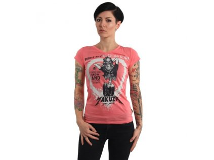 Yakuza ROTTING BODY V NECK dámske tričko GSB 14145 camelia rose