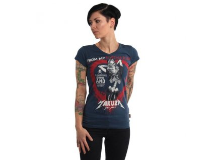 Yakuza ROTTING BODY V NECK dámske tričko GSB 14145 parisian night