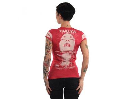 Yakuza CHILDHOOD V NECK dámske tričko GSB 14147 rose red