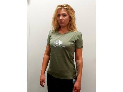 Alpha Industries New Basic T Wmn Olive dámske tričko