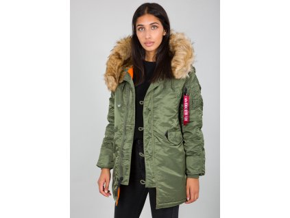 Alpha Industries N3B VF 59 Wmn dámska zimná bunda sage green f