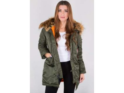 Alpha Industries N3B VF 59 Wmn dámska zimná bunda sage green