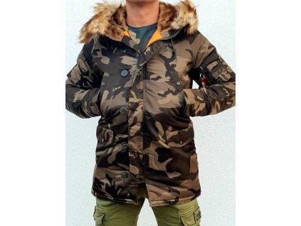 Alpha Industries zimná bunda N3B VF 59 olive camo