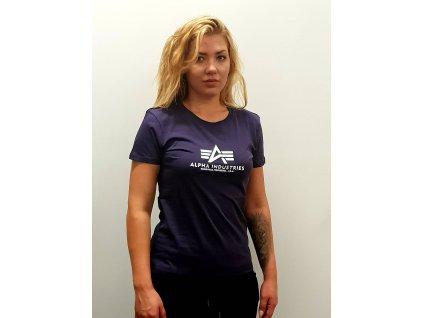 Alpha Industries New Basic T Wmn Nightshade dámske tričko