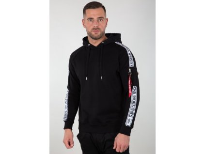 Alpha Industries AI TAPE HOODY black pánska mikina d