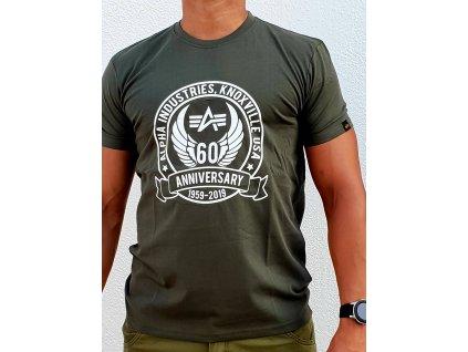 Alpha Industries ANNIVERSARY T dark olive tričko pánske