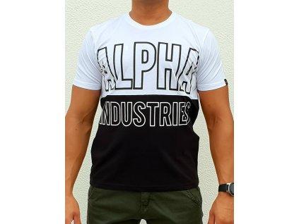 Alpha Industries BLOCK T white tričko pánske