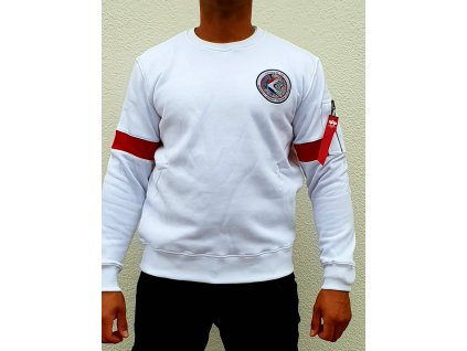 Alpha Industries APOLLO 15 Sweater white mikina pánska