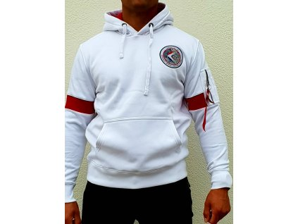 Alpha Industries APOLLO 15 Hoody white pánska mikina