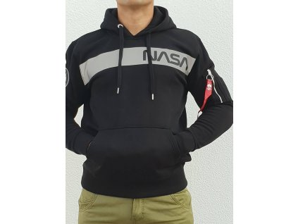 Alpha Industries NASA RS Hoody black pánska mikina