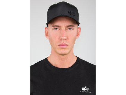 Alpha Industries Small logo Flight Cap šiltovka black