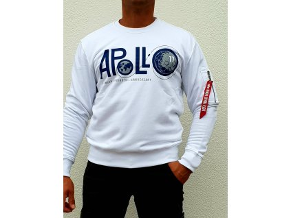 Alpha Industries APOLLO 50 Sweater white mikina pánska