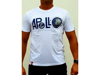 Alpha Industries Apollo 50 T white tričko pánske