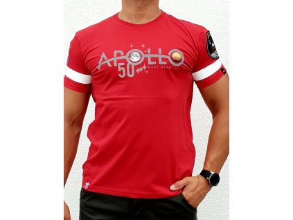 Alpha Industries Apollo 50 Reflective T speed red tričko pánske​​​​​​​