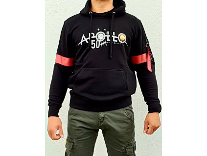 Alpha Industries Apollo 50 Reflective Hoody black mikina pánska