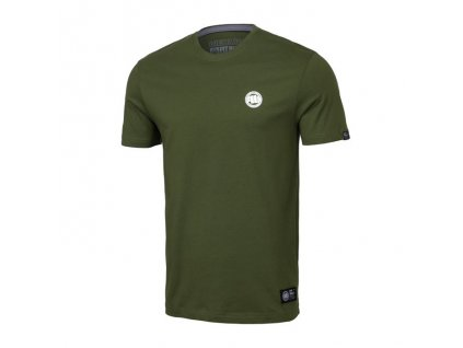 PitBull West Coast SMALL LOGO olive tričko pánske