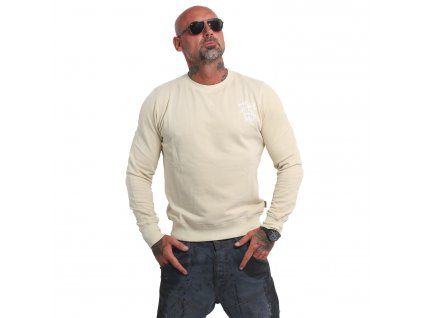 Yakuza mikina pánska Basic Line 4W Pullover PB 14075 bone white