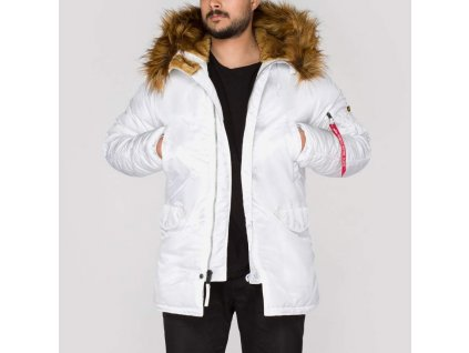 Alpha Industries zimná bunda N3B VF 59 white