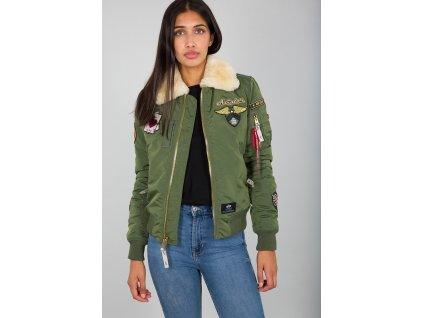 Alpha Industries Injector lll Custom Wmn dámska zimná bunda sage green