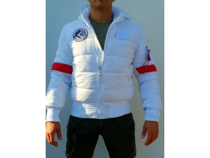 Alpha Industries Hooded Puffer FD NASA zimná bunda white