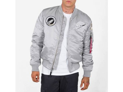 Alpha Industries MA-1 VF NASA bunda silver