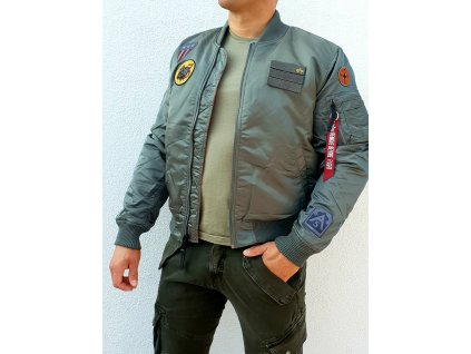 Alpha Industries MA-1 Air Force zimná bunda vintage green