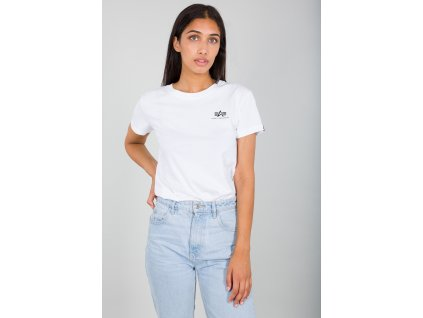 Alpha Industries Basic Small Logo T Wmn white dámske tričko