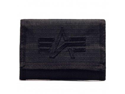 Alpha Industries ALPHA Wallet Black peňaženka